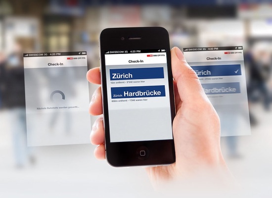 Schweizerische Bundesbahnen SBB SBB App Konzept