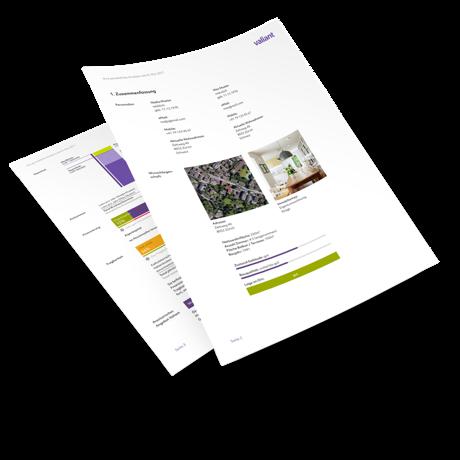 Der persönliche Bericht umfasst neben den Angaben auch Gemeindereport und Liegenschaftsbewertung.