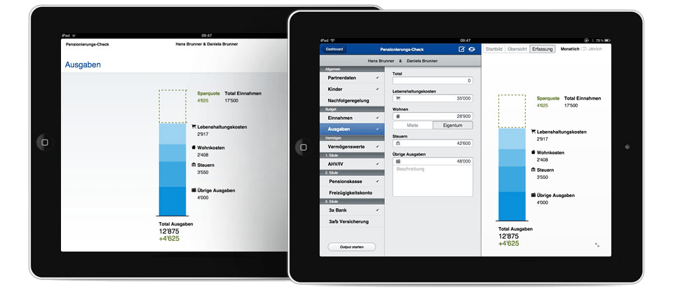 Beratungstermin mit zwei iPads